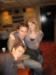 Nathan Fillion, Seamus Dever, and Juliana Dever