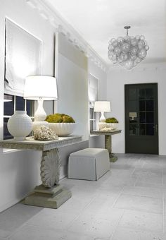 Interior application of Peacock Pavers in RICE WHITE