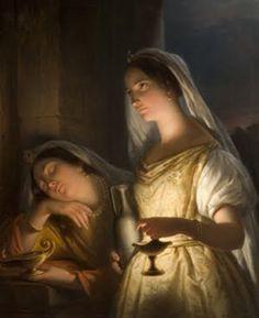 Jan Adam Kruseman, The Wise and Foolish Virgins, 1848