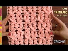 Punto trenzado en dos capas tejido a crochet paso a paso / Tejiendo Perú // света ломакова Art Au Crochet, Pull Crochet, Crochet Cable, Crochet Motifs, Crochet Stitches Patterns, Stitch Patterns, Knitting Patterns, Crochet Crocodile Stitch, Crochet Headband Pattern