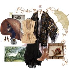 Aunt Fran by missspite on Polyvore featuring STELLA McCARTNEY, Dorothy Perkins, Full Tilt, Miss Selfridge, bohemian, practical magic, aunt fran and witch