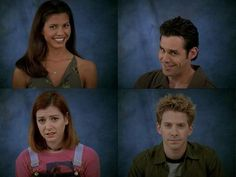Buffy yearbook pics...love it!  Cordy, Xander, Willow, and Oz