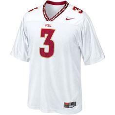 Nike Florida State Seminoles (FSU)  3 Replica Football Jersey - White 03a0e80c6
