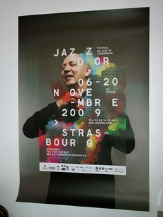 This poster design is as colorful, rhythmic and effervescent as the jazz it promotes :) Typography Layout, Typography Poster, Lettering, Graphic Design Posters, Graphic Design Inspiration, Inspiration Wand, Jazz Poster, Plakat Design, Print Layout