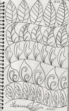 From My Sketch Book...swirls