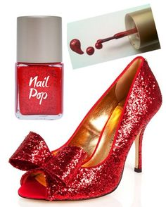 Some things in life are just meant to be...    Ted Baker Sparkling Red Peep Toes teamed with 'Dorothy' Nail Pop (£5)