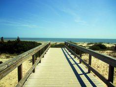 The Boardwalk to the beach on Jekyll Island Georgia