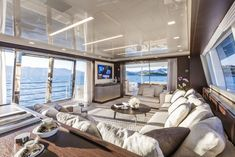 Living room inside a Yacht. Living room inside a Yacht. Luxury Yacht Interior, Boat Interior, Luxury Homes, Luxury Apartments, Private Jet Interior, Yacht Design, Bateau Yacht, Interior Design Tips, Luxury Living