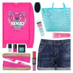 """""""Kenzo Sweater"""" by wolfiexo ❤ liked on Polyvore featuring Kenzo, Merona, Citizens of Humanity, NARS Cosmetics, Lancôme and Maybelline"""