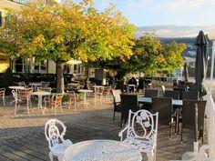 Seeterrasse Hotel Forelle - im Herbst