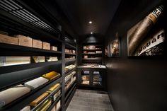 25,000 cigar walk-in humidor - modern - wine cellar - new york - Signature Wine Cellars