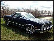 1986 Chevrolet El Camino  Not sold; high bid of $4,000