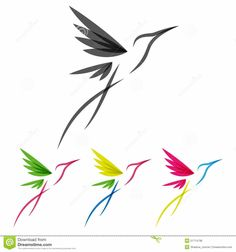 Vector Colored Stylized Tropical Hummingbirds Template for Logo Design – achetez cette image vectori… Hummingbird Tattoo, Dragonfly Tattoo, Body Art Tattoos, New Tattoos, Tatoos, Hand Tattoos, Sleeve Tattoos, Gouts Et Couleurs, Icon Design