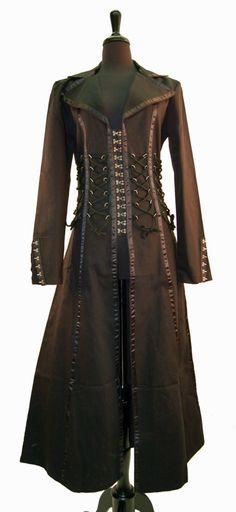 Coats Pagan Wicca Witch:  Leather frock coat.