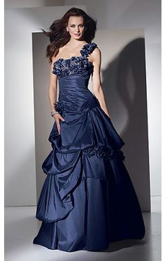 Long One Shoulder Ball Gown AL-5428