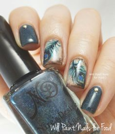The Neverending Pile Challenge: Day Six, Indie: Grungy Peacock with Nire's Desire@reddbettie  these are perfect nails for you!