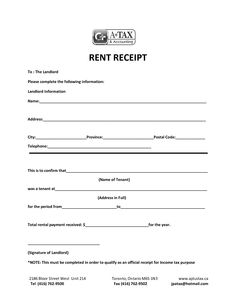 Rent Receipts  Click On The Download Button To Get This House