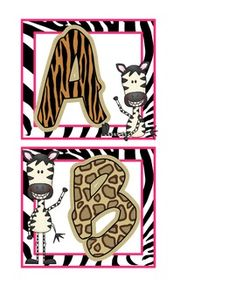 Looking for cute word wall headers that match your jungle or safari classroom theme