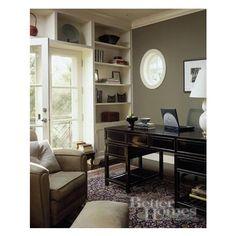 Black Lacquered Desk ❤ liked on Polyvore featuring home, furniture, desks, black lacquer desk, shelves furniture, black shelf, black shelving and lacquer furniture