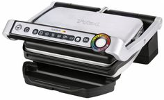 Amazing offer on T-fal OptiGrill Electric Grill, Indoor Grill, Removable Nonstick Dishwasher Safe Plates, 4 Servings, Silver online - Gotopratedseller Steaks, Best Indoor Electric Grill, Best Portable Grill, Best Gas Grills, Infrared Grills, Grilled Roast, Best Charcoal Grill, Propane Gas Grill, Indoor Grill