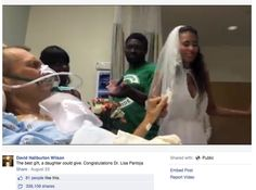 In August, Wilson's daughter Lisa and her fiancé Robert Pantoja moved their wedding to his hospital room.