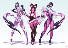 The other two directions that are different from the final result~ Blackberry jam and Alpenliebe! Noxus League Of Legends, Evelynn League Of Legends, League Of Legends Characters, Female Character Design, Character Concept, Character Art, Fantasy Characters, Female Characters, Anime Characters