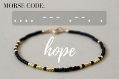 Hope Morse Code Bracelet - Designed By Lei