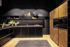 Black kitchen inspiration from Milan Design Week 2019 #CaesarstoneSA