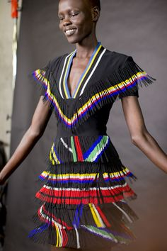 London Fashion Week Backstage looks so south african though...those colours