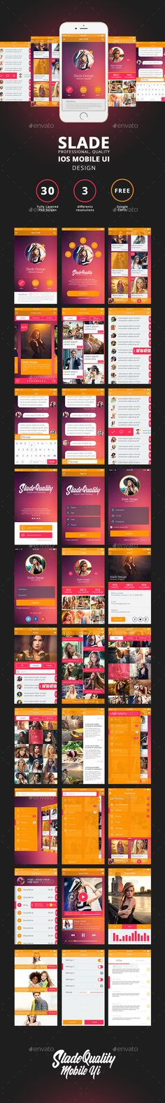 SLADE Professional Quality IOS mobile UI DESIGN - User Interfaces Web Elements
