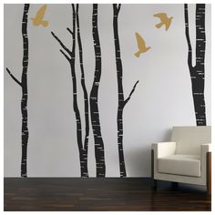 Silver birch tree forest wall stickers (2.624.460 IDR) ❤ liked on Polyvore featuring home, home decor, wall art, tree wall art, colorful wall art, tree wall decals, forest wall stickers and tree branch wall decal
