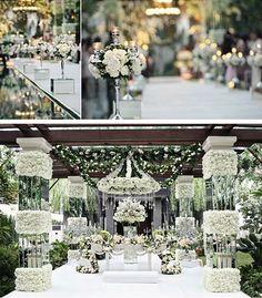 White Glamour Wedding