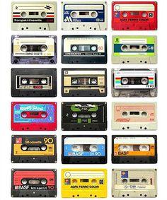 The analog audio tape cassette Foto Picture, Little Bit, Glitter Graphics, Mixtape, Childhood Memories, Old School, Retro Vintage, Graffiti, Scrapbook