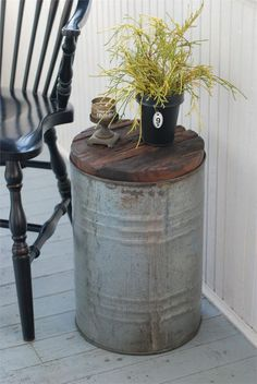 galvanized accent table - Yahoo Image Search Results