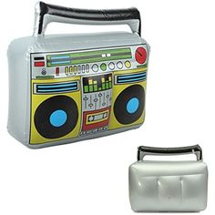 New Inflatable Radio Record Musical Boom Box 42.5*9*41cm 80s Fancy Decoration Toy >>> Continue to the product at the image link. (This is an affiliate link) #PartySupplies