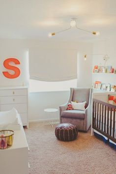 Sloan's Bright White Nursery with a Slice of Melon — My Room