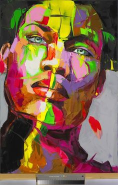 Me painted by Françoise Nielly - Artist :: Gallery: L'art Du Portrait, Abstract Portrait, Abstract Art, Pop Art, Art Sculpture, Expressive Art, African American Art, Colorful Paintings, Artist Gallery