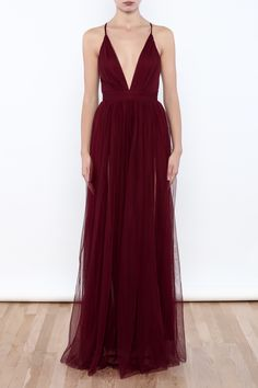 luxxel Tulle Maxi Dress - Main Image