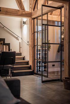 Stalen deuren en trap made by Blecks Eiken made by Bouwbedrijf Kok Garderen Trap, Stairs, Windows, Furniture, Home Decor, Stairway, Decoration Home, Room Decor, Staircases