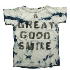 DENIM DUNGAREE(デニム&ダンガリー):ビンテージテンジクGOOD SMILES Tシャツ 14BLブルー の通販【ブランド子供服のミリバール】