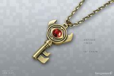 zelda boss key necklace from fangamer