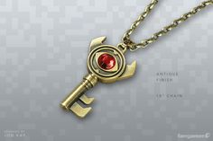 zelda boss key necklace from fangamer