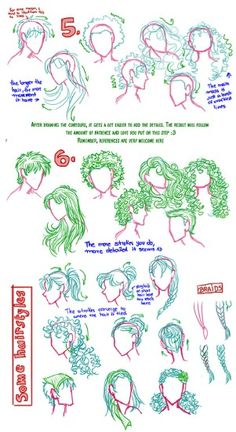 This is perfect! I've been searching for instructions on how to draw hair like this for the longest time!
