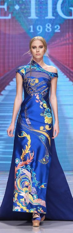 "On October 25, the 2016 ""Qing·Qipao"" Haute Couture Fashion Show organized by NE·TIGER, a top fashion brand in China"