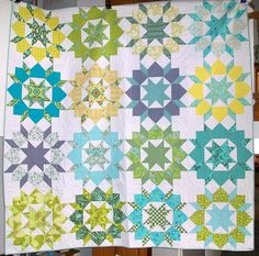 Finished Swoon with extra blocks and no sashing. Yay or nay? Love the color combo