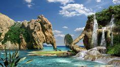 바닷가가 펼쳐진 지상 낙원 http://i.wik.im/67260