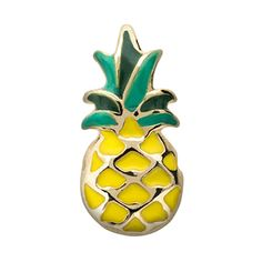 Look back on your Hawaiian getaway every time you see this Pineapple Charm in your Living Locket®. Or, if you just love tropical drinks, include it in your creation with the Boat Drink Charm. Charm Features *Hand-painted enamel