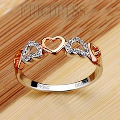 NSCD 2 Point Romantic Heart Design 925Silver Ring 2