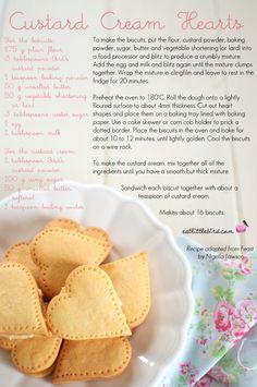 Custard Cream Hearts. Recipe by Nigella Lawson