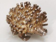 A Fine Vintage Sterling Silver Hedgehog Charm by JulesJewellers